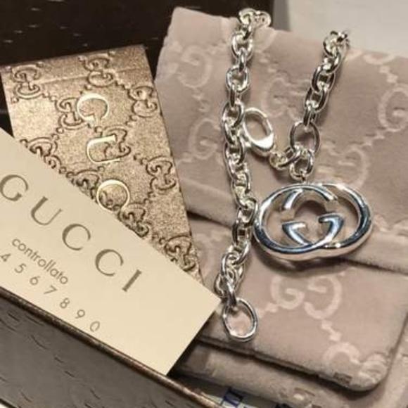 fda9152dd Gucci Jewelry   Nwt G Charm Britt Sterling Silver Bracelet   Poshmark